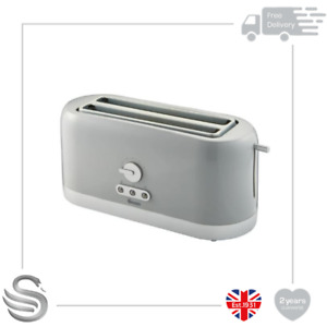 Swan 4 Slice Long Slot Toaster 1400W Variable Browning Control Reheat Defrost