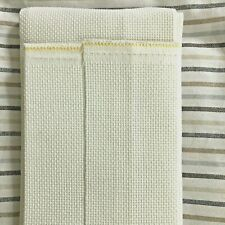 "New Listing Aida Cross Stitch Fabric 14 ct 20"" x 36"" +, White, 66 cm x 91.44cm Cambridge"