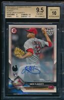 BGS 9.5 AUTO 10 JACK FLAHERTY 2018 Topps Bowman Holiday TURKEY #/35 RC GEM MINT