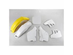 Kit plastique UFO type origine blanc / jaune Suzuki RM 250 1992