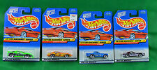 4 Hot Wheels Tattoo Machines Series 1998 '57 T-Bird 93 Camaro Blackhawk Corvette