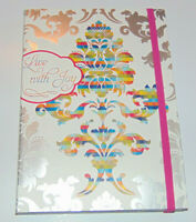 Live With Joy, Christian Journal, Artistic Lined Pages & Bible Scripture Verses