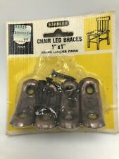 Stanley Chair Leg Braces 1 Inch Brown Lacquer Finish 4 Pack NOS Bracket