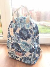 Cath Kidston Royal Blue Large Flowers Backpack Shoulder Bag Handbag Rucksack