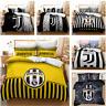 3D JUVENTUS Duvet Quilt Cover Queen Comforter Cover Pillowcase Bedding Set
