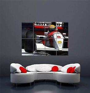 SENNA AYRTON F1 MARLBORO RACING DRIVER NEW GIANT WALL ART PRINT POSTER OZ600