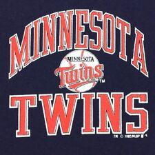 Minnesota Twins Mens Jersey Button Down Navy Blue Baseball Vintage 92 Shirt Sz L
