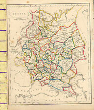 c1815 MAP ~ RUSSIA ~ SARATOV ASTRAKHA CAUCASU ORLO TVER ~ HAND COLOURED