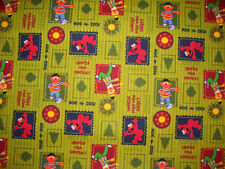 SESAME STREET HIDE AND SEEK COTTON FLANNEL FABRIC FQ