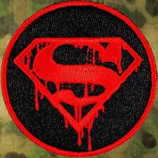 ZOMBIE HUNTER TACTICAL: SUPERMAN DEATH MORALE PATCH W/VELCRO®~THE WALKING DEAD