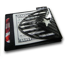 Billetus 'Mericus Carbon Fiber and Ballistic Nylon RFID Blocking Wallet - BLACK