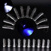 Dual-use UV Ultra Violet LED Flashlight Blacklight Light Inspection Torches UR8