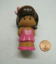 New Fisher Price Little People MIA GIRL in PRETTY PINK DRESS PINK BOW Hispanic
