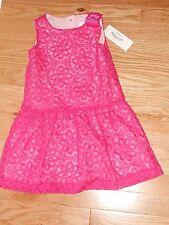 "NWT - Gymboree ""Egg Hunt"" hot pink flowered sleeveless lined dress - 3T girls"