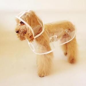 Pet Dog Puppy Raincoat Waterproof Small Dog Rain Coat Rainwear Hood Clothes JH