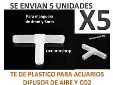 PACK X5 TE ACUARIO Tubo MANGUERA de Aire Oxigenador CO2 bomba difusores plastico