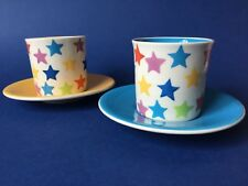 Whittard of Chelsea Star Espresso Cups & Saucers