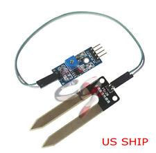 Soil Humidity Hygrometer Moisture Detection Sensor Module Arduino w/Dupont Wires