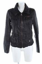 SUPERDRY Lederjacke schwarz Casual-Look Damen Gr. DE 40 Jacke Jacket Leder