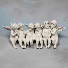 Sitting Cherubs Angels Angel Antique White Models Cherub Model Shelf Ornament UK