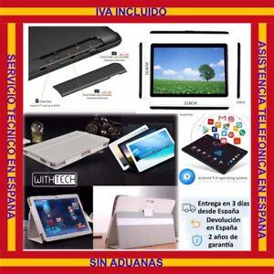 10,1 Tablet WITHTECH , 3G, OCTA CORE, 4 GB RAM DUAL SIM NEGRA CON FUNDA