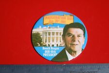 Ronald Reagan Political Pinback Pin 40th President Inauguration Day Portrait