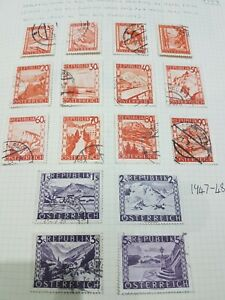 Austria / Österreich 1947- 48  landscapes Used & Hinged mint (HM)