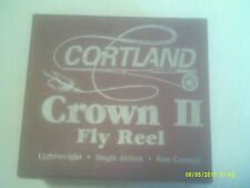NEW MADE IN ENGLAND IN THE BOX W/EVERYTHING CORTLAND CROWN 2 FLY REEL!
