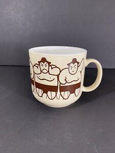 Vintage Sumo Wrestling Coffee Mug Kato Kogei Japan Cup