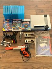 Original Working NES Nintendo Video Game Console w/controller,zapper,& 8 games