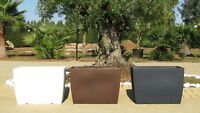 Fioriera resina vasi rettangolari moderni larghezza 60 o 70 cm Made in Italy!