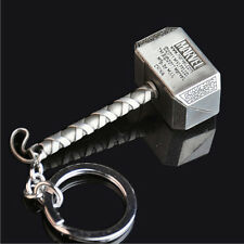 Marvel The Avengers Thor Thor's Hammer Mjolnir Pewter Metal Keyring Key Chain JX