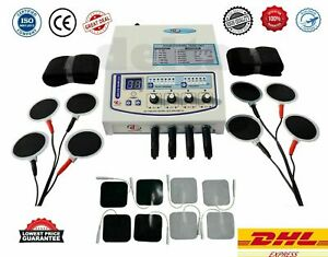 Electrotherapy 4 Ch Physiotherapy multi therapy with sticky+carbon pads therapy