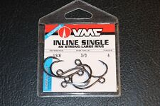VMC ILS-30CB In Line Hook Size 3/0 6 Pack Coastal Black 4X Replacement Hooks