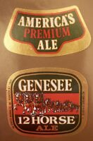 GENESEE BEER Cream Ale Dundee nos STICKER decal craft beer brewery brewing