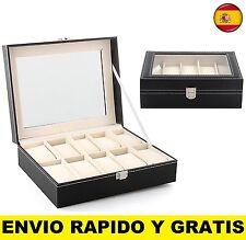 ESTUCHE EXPOSITOR ORGANIZADOR DE RELOJ CAJA CAPACIDAD PARA 10 RELOJES GUADARELOJ