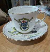 VINTAGE GLADSTONE BONE CHINA ◇ HUDSON'S BAY CO TEA CUP AND SAUCER ◇ ENGLAND