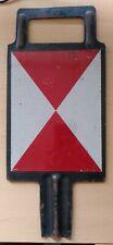 Steckschild Zugschluss (beidseitig, schwarz, 38,5 x 16,5cm)