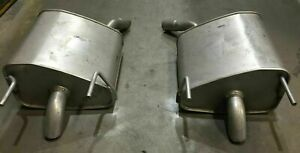 Left & Right hand side Rear Mufflers For Holden Vectra ZC 3.2L Petrol V6 Sedan H