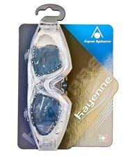 Aqua Sphere Kayenne Swim Goggles Smoke Lens Transparent / Silver