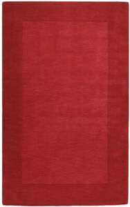 Surya Red 3 x 5 Hand Made Wool Border Contemporary Area Rug- Approx 3' x 5'