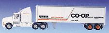 Model Power Kenworth 18 Wheeler Tractor & W/STD Box Trailer CO-OP 1:87 #17003