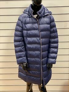 Michael Kors Down Puffer Jacket Long Parka Women Coat Blue Size - 1X