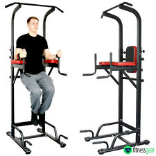 Multi Gyms Power Tower Dip Station Vertical Knee Raise Pull Chin Push Up Workout
