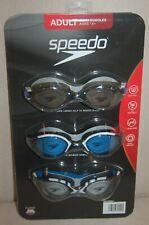 3 Pack Speedo Swim Goggles Adult Men Women 14+ Latex Free UV Protection Anit Fog