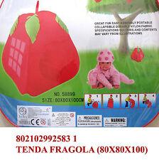 Tenda da giardino casa mare cameretta giocattolo per giochi bimbi fragola