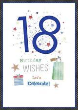 Carte d'anniversaire - garçons 18th Anniversaire - Bleu 18 Today (a103)