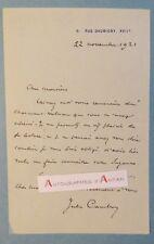 L.A.S 1921 Jules CAMBON Diplomate envoi d'un volume Suzanne Académicien lettre