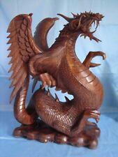 Balinese Dragon Statue - Suar Oakwood - Handcrafted - 55 cm High !!!