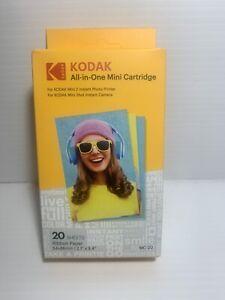 KODAK ALL-IN-ONE MINI CARTRIDGE 20 Sheets PAPER Mini 2 Photo Printer-Genuine